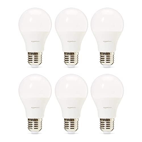 Amazon Basics Professional - LED-Leuchtmittel, Edison-Schraubgewinde (E27), entspricht 40-Watt-Birne, Warmweiß, 6 Stück