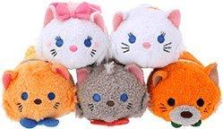 Disney Store TSUM TSUM (Tsumutsumu) mini (S) The Aristocats series set (Marie Toulouse, Berlioz, Duchess O'Malley)