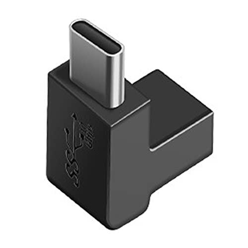 Adaptador tipo C ángulo de 90 grados 10Gbps GEN2 USB 3.1 de alta velocidad macho a hembra / USB C hembra a hembra / macho a macho convertidor