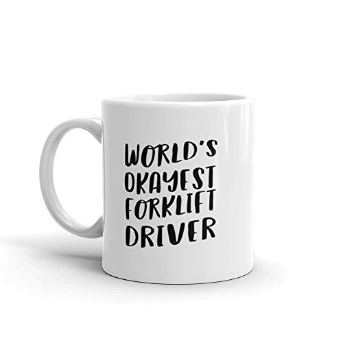 Werelden Okayest Heftruck Driver Koffie Mok voor Medewerker Office Cool Unieke Aangepaste Vrachtwagen Beste Gift Grappige Promotie Nieuwe Werk Zwaar