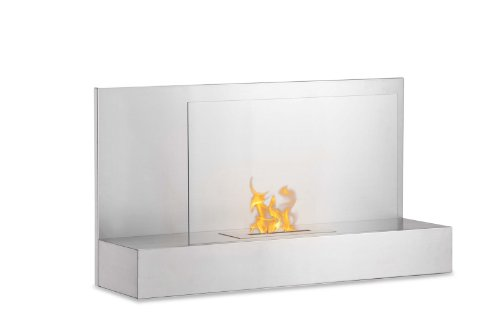Wall Mounted Ventless Bio Ethanol Fireplace - Ater Stainless Steel | Ignis