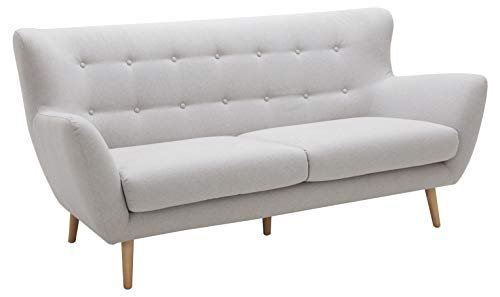Amazon Brand – Rivet Isabelle Mid-Century Modern Sofa with Tapered Wood Legs, 76'W, Felt Grey