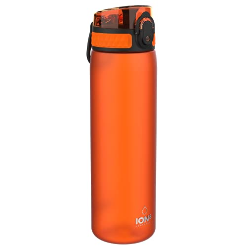 Ion8 Borraccia Senza Perdite, Senza BPA, 600ml, Arancia