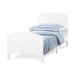 Forever Eclectic Hampton Arch Top Toddler Bed, Matte White