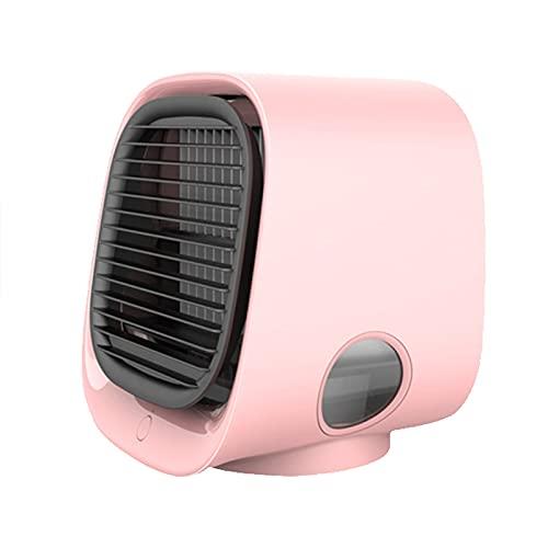 WANGLX Mini Ventola di Raffreddamento dell'Aria da Tavolo Raffreddatore d'Aria Portatile Condizionatore d'Aria Personale Ventola Tavolo di Raffreddamento dello Spazio,Pink