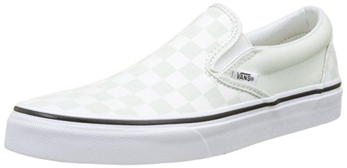 Vans Damen Classic Slip-on Slip On Sneaker, Grün (Checkerboard), 46 EU
