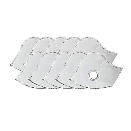 Humeng Aktivkohlefilter mit 5 Auslassventilen, Ersatzstaub, 10 Stück, Made In Germany Weiß Einheitsgröße