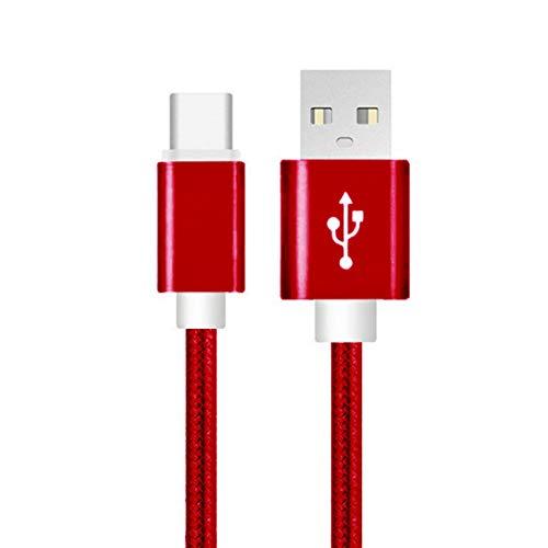NoyoKere 1M 2M Cargador USB Tipo C Cargador USB C de Alta Velocidad a USB 3.0 Cargador Trenzado de Nylon Cargador de Datos de Sincronización Cable de Carga Rápida