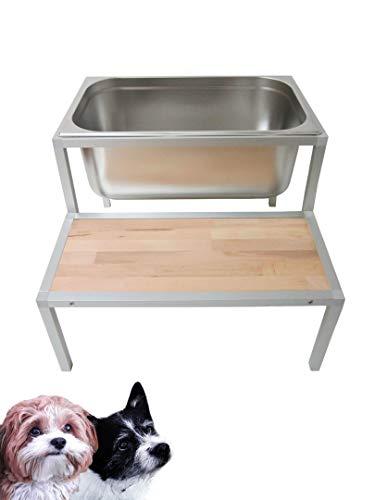 Generisch Hundebadewanne Hundewanne Hunde Wasserbecken Hundedusche Edelstahl Hundebad TOP!