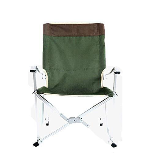 YLCJ campingstoel, draagbaar, inklapbaar, ultralicht, met tas voor wandelen, strand, vissen 59x56x91cm Celeste Y Blanco