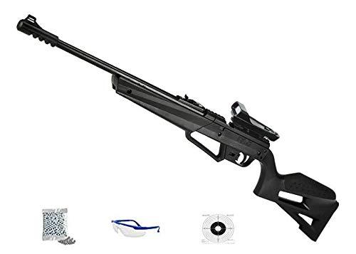 Umarex NXG APX | Pack Escopeta-carabina de Aire comprimido de balines (perdigones) y Bolas bb's de Acero con Visor holográfico Calibre 4.5mm - Potencia: 3.5 Julios