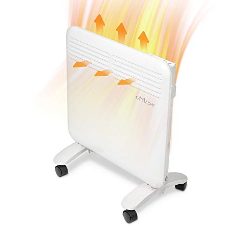 LUCKYERMORE Space Heater Under Desk Heater for Office - Completely Quiet Wall Mountable Overheat Protection No Fan No Dust Blowing Electric Heater Suit for Bathroom Office Bedroom 750 W