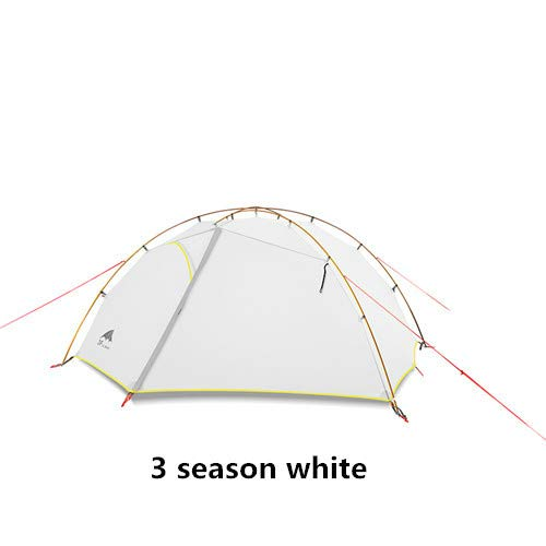 Mdsfe 3F UL GEAR Green and white 4 Season Camping Tent 15D Nylon   Double Layer Waterproof Tent for 2 Persons-3 season white