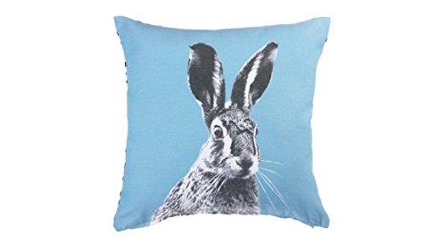 KAAT Sierkussen Colored Hare - 43x43cm - Blue