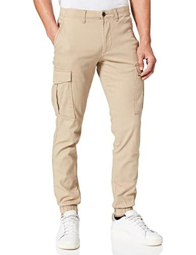 Jack & Jones JJIMARCO JJJOE Cuffed AKM CROKERY Pantalon Cargo, Vaisselle, 29W x 34L Homme