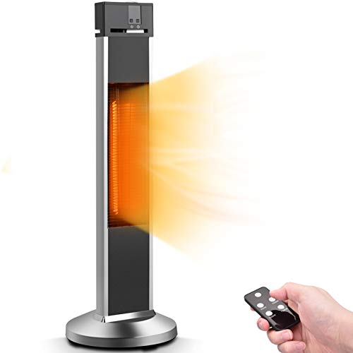 Patio Heater - Air Choice 1500W Electric Heater/ Outdoor Heater with 3S Quick Heating/ Safe Infrared Heater with 3 Modes/ Super Quiet Room Heater/ Garage Heater for Large Space/ Bedroom, Office Heater