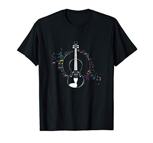 Violinist Orchester Musik Noten Violine Geschenk Geige T-Shirt