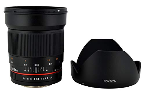 Rokinon 24mm F1.4 ED AS IF UMC Wide Angle Lens for...