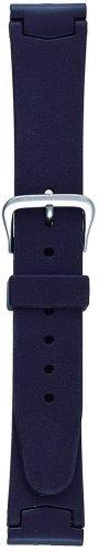 『BAMBI バンビ 時計バンド ウレタン 黒 18mm 美錠 シルバー BG600A』のトップ画像