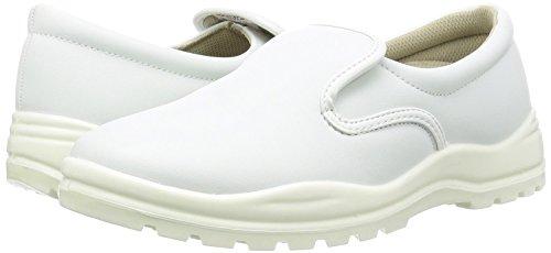 コック靴・厨房用靴|JCMコックシューズ ER-CS|男女兼用|色・サイズ選択可 (白, 25.0cm)