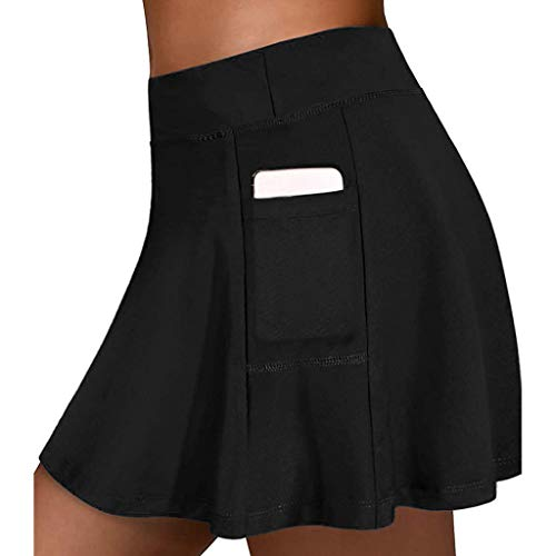 BaZhaHei Short Jupes Femmes Mode Taille Haute Elastique Legging Femmes Pantalon Court Moderne Chic Skinny Grande Taille Fitness Running Yoga Ventre Plat Anti Cellulite Minceur