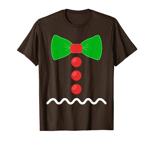 Hombre de jengibre divertido disfraz de jengibre pan nios Camiseta