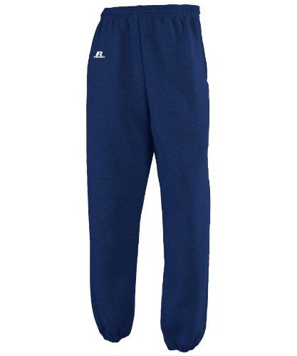Russell Athletic Men's Dri-Power Closed-Bottom Fleece Pocket Pant - Small - Navy