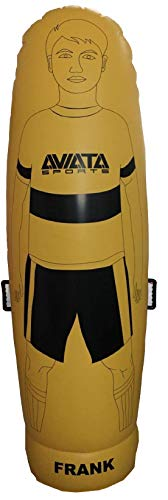 Aviata Sports Frank The Air Mannequin - Big - Inflatable Defender Training Aid, Soccer Training Equipment, Goalkeeper Defensive Dummy - 6'5' Tall / 200cm - Yellow
