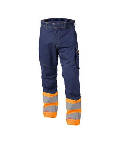 Dassy Phoenix Pantaloni da lavoro ad alta visibilità Marine/Orange 58 Pantaloncini Gamba