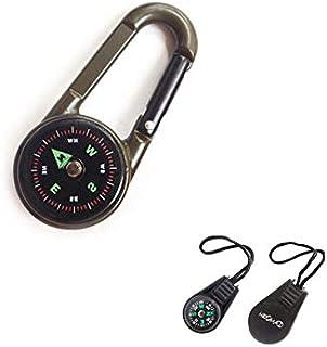 登山のボタン方位磁石・羅針盤・アウトドアキャンプ ハイキング ポータブルな旅行ガイド コンパクト 方位磁石・ミニ 羅針盤・登山 方位磁針 アウトドア 防災 コンパス・HROMAD