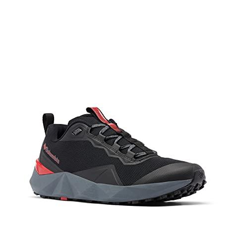 Columbia mens Facet 15 Hiking Shoe, Black/Bright Red, 10 US