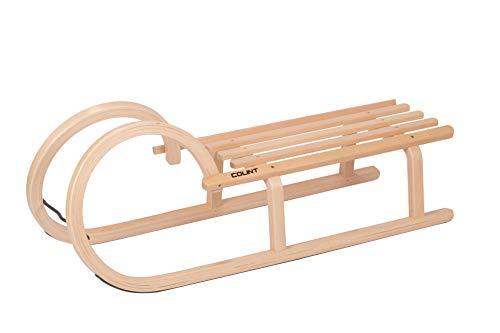 COLINT Hörnerschlitten 100 cm Holzschlitten Schlitten Holz Rodel Hörner HCL 40100