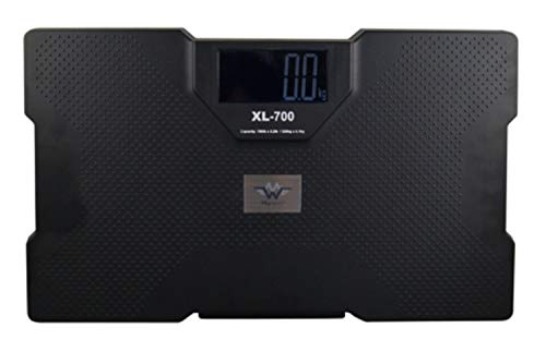 My Weigh SCMXL700T Talking Bathroom Scale, 700lb/320kg Capacity, with Focus Rechargeable AA Battery Pack
