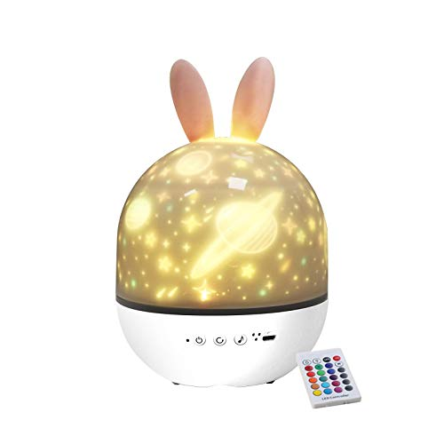 BluEye 3 IN 1 Cordless LED Star Projector Nursery Night Light,360°Rotating White Noise Sound Machine,Toddler Sleep Trainer with Timer,Rechargeable Soft LED Mood Lamp, Remote Control,Best Gift for Baby