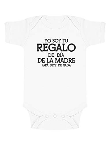 Body de Manga Corta para bebé - Regalo para Mama en el Día de la Madre 3-6 Mes Blanco