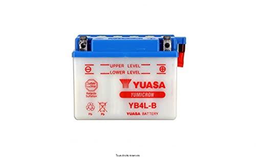 Batería moto Yuasa YB4L-B Dry - Fornita secca - 12 V 4 Ah - Dimensiones: 121 x 71 x 93 mm compatible con DERBI Hunter 50 1996-1997