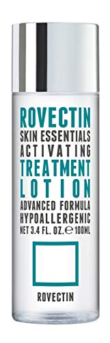 [Rovectin] Activating Treatment Lotion - 7 Layers of Hyaluronic Acid Face Toner Essence with Niacinamide (Vitamin B3) and Panthenol (Vitamin B5) (3.34 fl.oz)