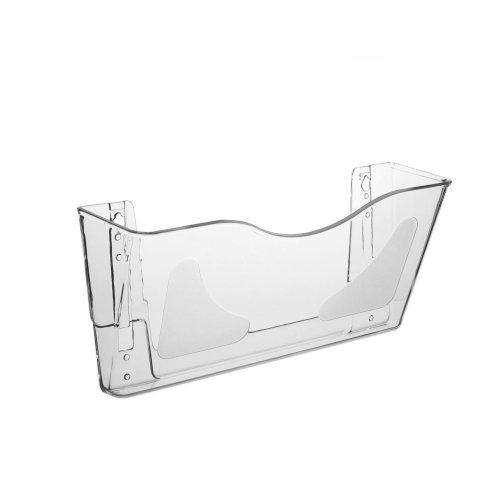 DIN A4 Wandprospekthalter/Dokumentenhalter im Querformat mit Überbreite, transparent
