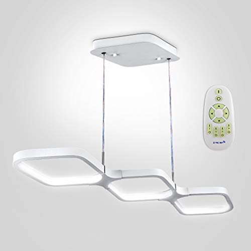 Anten 30W LED Pendelleuchte dimmbar Esstisch Hängeleuchte weiß Pendellampe modern Hängelampe Höhenverstellbar Leuchte für Büro Wohnzimmer Esszimmer Schlafzimmer