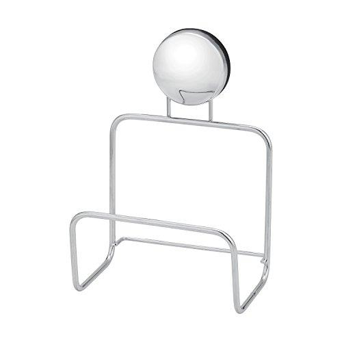 レック お風呂の壁に マグネット バススポンジホルダー (強力磁石) ステンレス 奥行き6 × 幅8.5 × 高さ12 cm BB-512