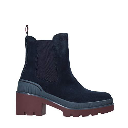 Tommy Hilfiger Damskie buty sportowe Chunky Chelsea Bootie, niebieski - niebieski Midnight 403-37 eu