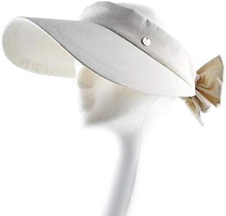 Solid Color Summer Hats For Women Panama Beach Hat Ladys AntiUV Zon Caps Vrouwen strik Tulband Leeg Top Hat ColorBeige