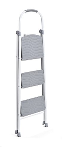 Rubbermaid RMS-3 3-Step Steel Step Stool, 225-pound Capacity, White