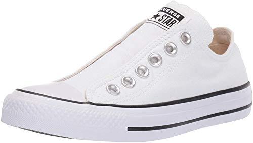 Converse Men's Chuck Taylor All Star Slip Sneaker, White/Black/White, 4 M US