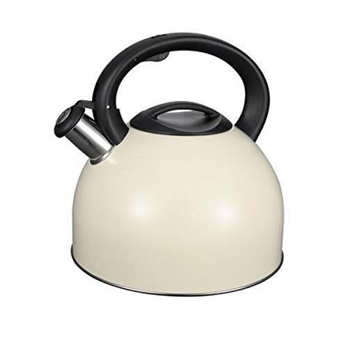 Teapot, Kettle, Coffee Maker,Stainless Steel Kettle,4L Whistling Teapot,Large Capacity,Best Gift,gas Cooker Universal Kettle (Color : White, Size : 4L)