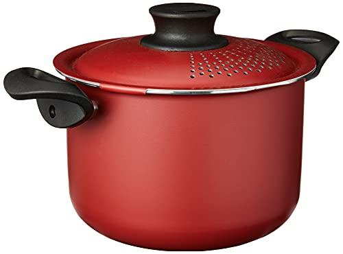 Espagueteira de Alumínio com Revestimento Interno de Antiaderente Tramontina Vermelho 20Cm