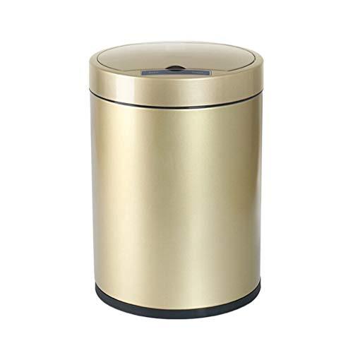 Smart Prullenbak Huishoudelijke Roestvrij Staal Digitale Touch Screen Automatische Inductie Met Deksel Champagne Goud (6L, 8L, 13L) Keuken Woonkamer Toilet Opslag Emmer Recycling bin prullenbak recycling bin