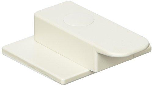 ABUS Backofentürsicherung Nina Riegel-Kindersicherung geeignet für Backöfen und Spülmaschinen - Klebemontage - 1 Stück - weiß - 73132