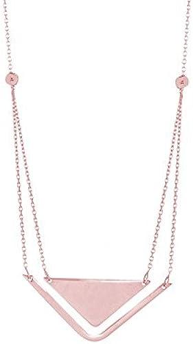 14  Rosa Gold Duo side-ways Stabilit und Balance verstellbar Halskette 46cm