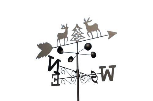 GardenMarketPlace Wetterfahne mit Erdspieß und Wandbefestigung